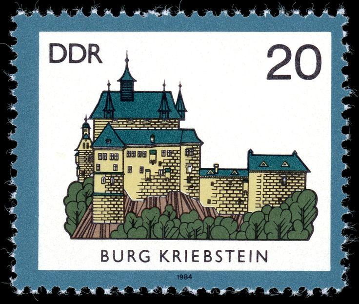 Stamps of Germany (DDR) 1984 Briefmarke Burg Kriebstein