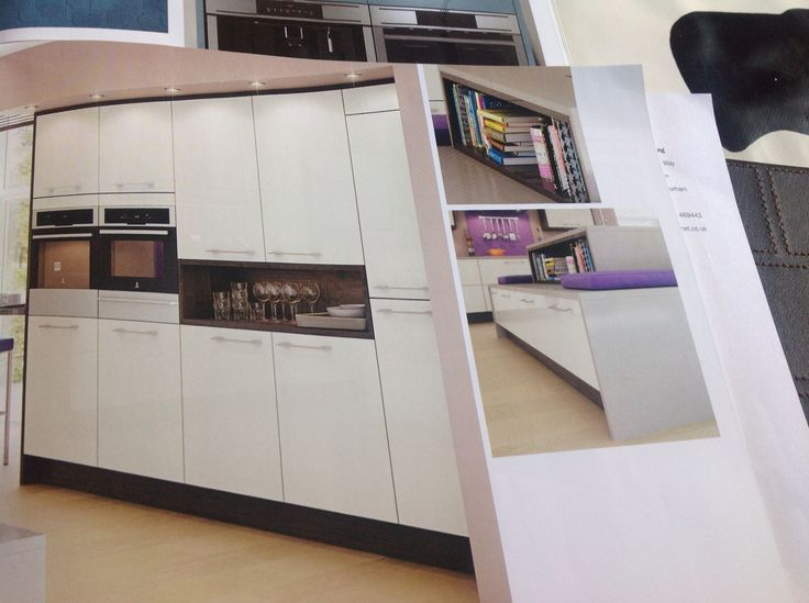 Like the idea of leaving space between units to use as a shelf/ cookbook storage/ display area