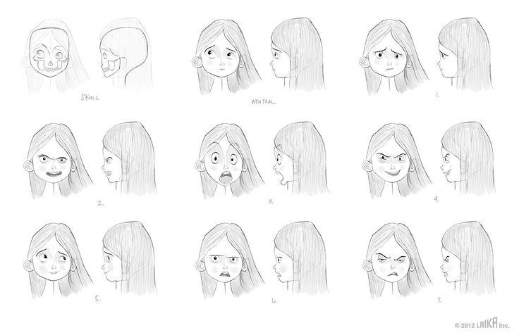 PARANORMAN facial expressions https://www.facebook.com/CharacterDesignReferences