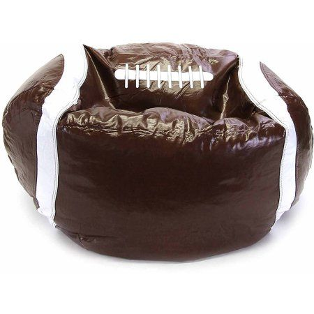 Exceptional Sports Bean Bag Chair, Football, Brown