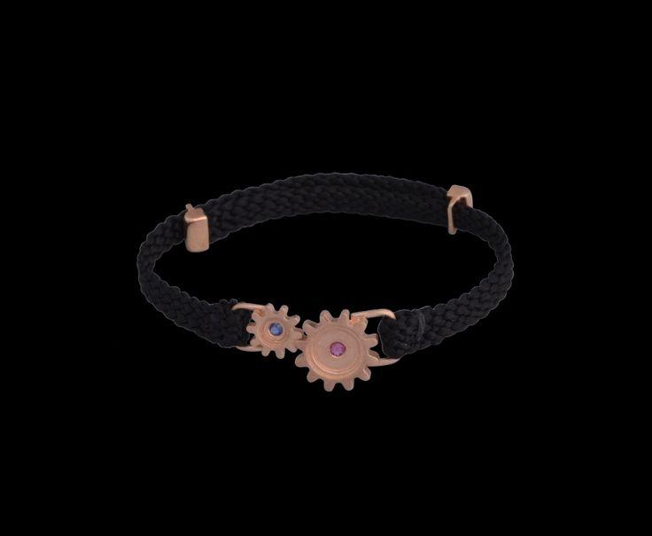 #silver #cogs #gears #ruby #sapphire #rosegold #gold #bracelet #finejewellery #jewellery