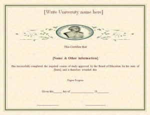 3 degree certificate templates word excel pdf templates - Degree Certificate Template Word