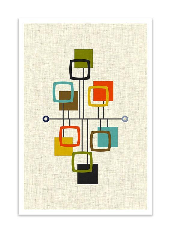 VIEW – Danish Modern Print, Mid Century Print, Giclée Print, Abstract Modern Art