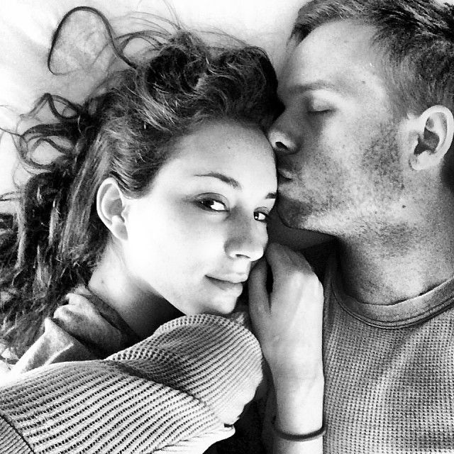 Troian Bellisario and Patrick Adams 28-10-13. Photograph by Patrick Adams: instagram.com/halfadams