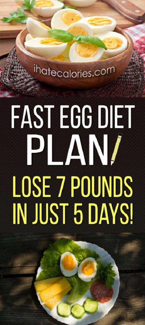 Fast Egg Diet Plan! Lose 7 Pounds In Just 5 Days!