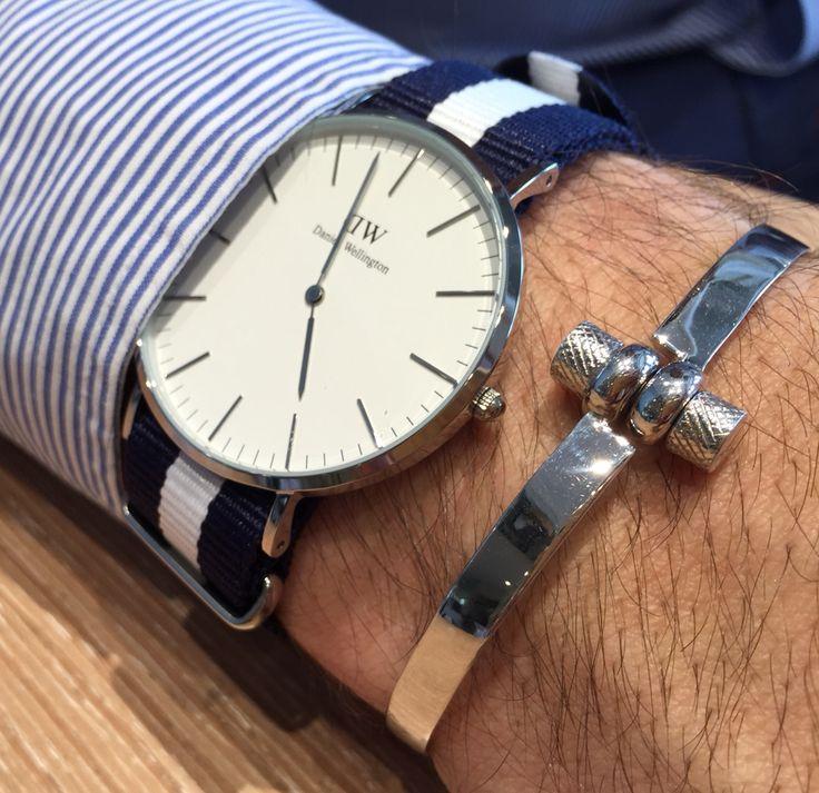 Screw silver bracelet  Daniel Wellington watch  Bracciale a vite in argento 925 Orologio Daniel Wellington