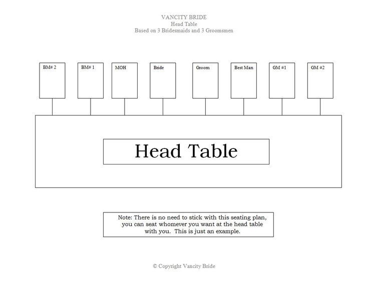 7 Free Wedding Templates to Help You Seat Your Guests: Vancity Bride's Free Wedding Seating Charts