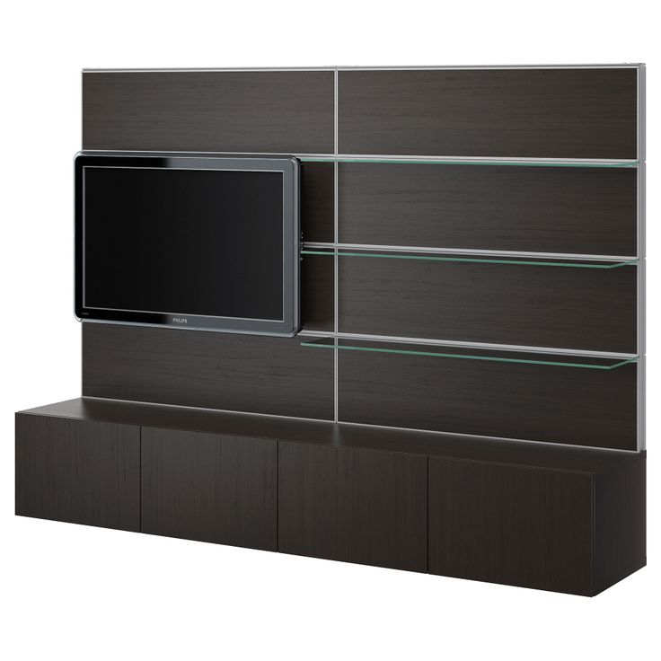 BESTÅ/FRAMSTÅ TV/storage combination - black-brown - IKEA