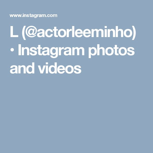L (@actorleeminho) • Instagram photos and videos