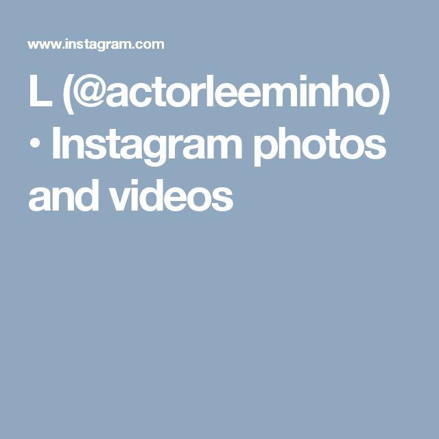L (@actorleeminho) • Instagram photos and videos