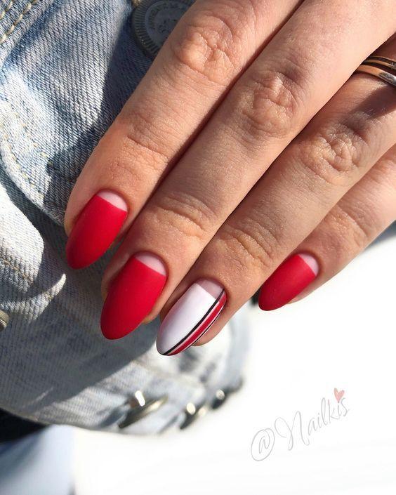 дизайн ногтей фото новинки красные 3
