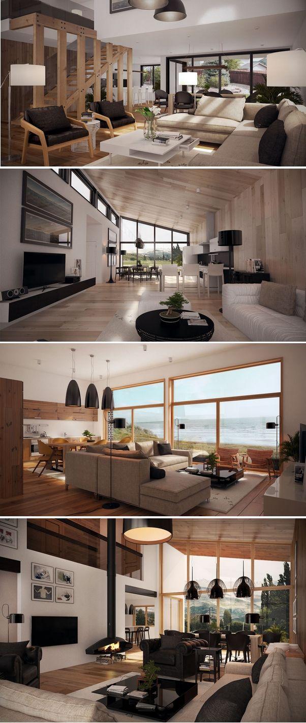 Interiores de casas modernas: Sala de estar
