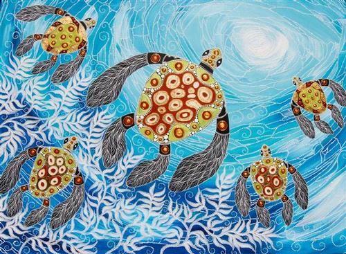 "Manyung Gallery Group - ""Sea Turtles"" by Melanie Hava"
