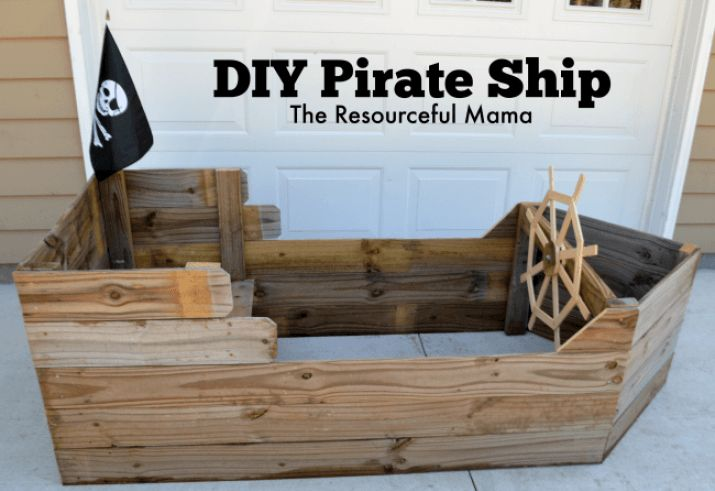 DIY Pirate Boat - Use these plans to finish our ship at the top of the slide