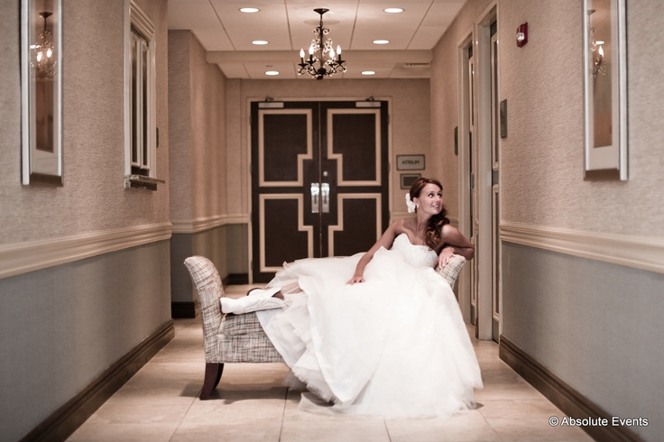A simple, sweet #photograph of one of our #brides in the hallway of the Crystal Ballroom. #wedding #dress #nj #venue www.CrystalBallroomNJ.com