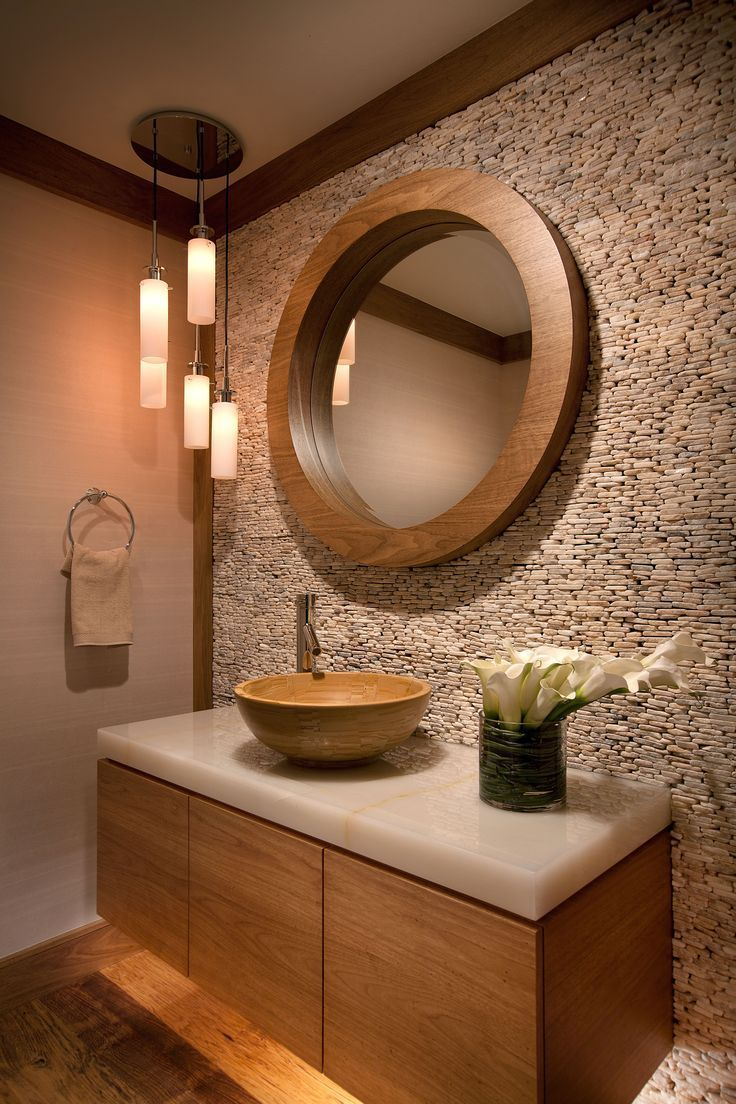 Earth tones and textures inspire this space and make a statement