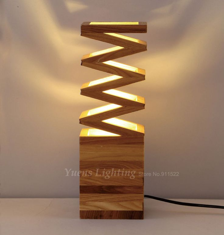 Modern Solid Wood Art Creative Individuality Bedroom Bedside Lights Study Shop Restaurant Wooden Desk Lamp 257-N07 Free Shipping