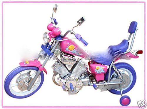 GIRLS PINK ELECTRIC RIDE ON HARLEY Motorcycle Power Wheels Car by POWER WHEELS, http://www.amazon.com/dp/B002P6SCGQ/ref=cm_sw_r_pi_dp_BKqpqb0WK6K7T