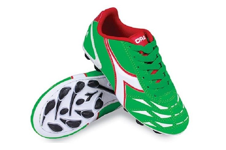 Youth 159177: Toddler Diadora Capitano Md Jr. Kids Soccer Shoes Size 8 New Green/White/Red BUY IT NOW ONLY: $33.0