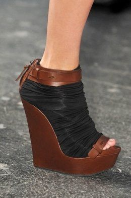 Givenchy Brown  Black Wedge 2010 #Shoes #Wedges                                        Hot, Hot, Hot!