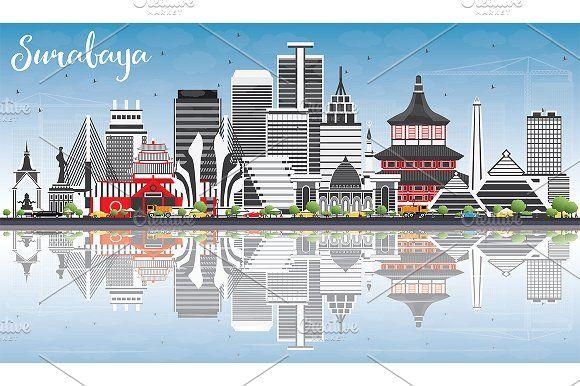 #Surabaya #Skyline by Igor Sorokin on @creativemarket