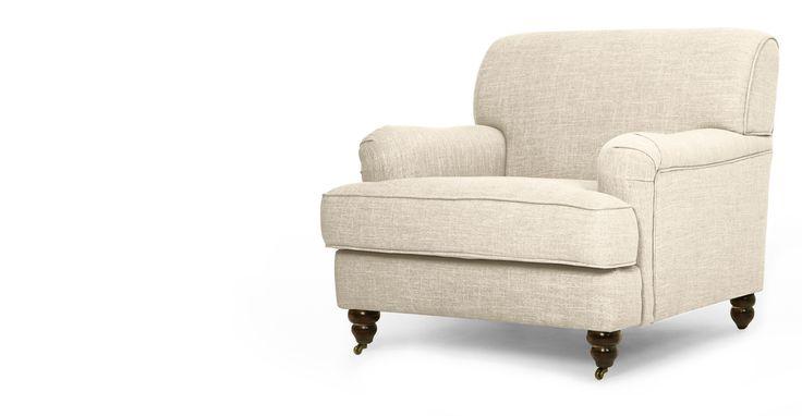 De elegante fauteuil Orson is geïnspireerd op traditioneel Engels design, maar dan met een eigentijdse uitstraling.