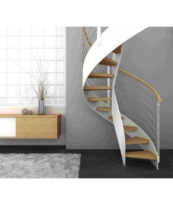Escalier en colimaçon SEVILLA : vente Escaliers hélicoïdaux, colimaçon et Escaliers en colimacon en bois   Echelle Européenne
