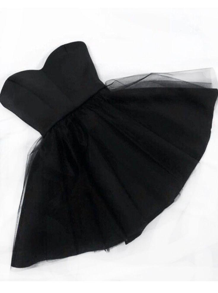 little black homecoming dress, strapless homecoming dress, party dress, dancing dress