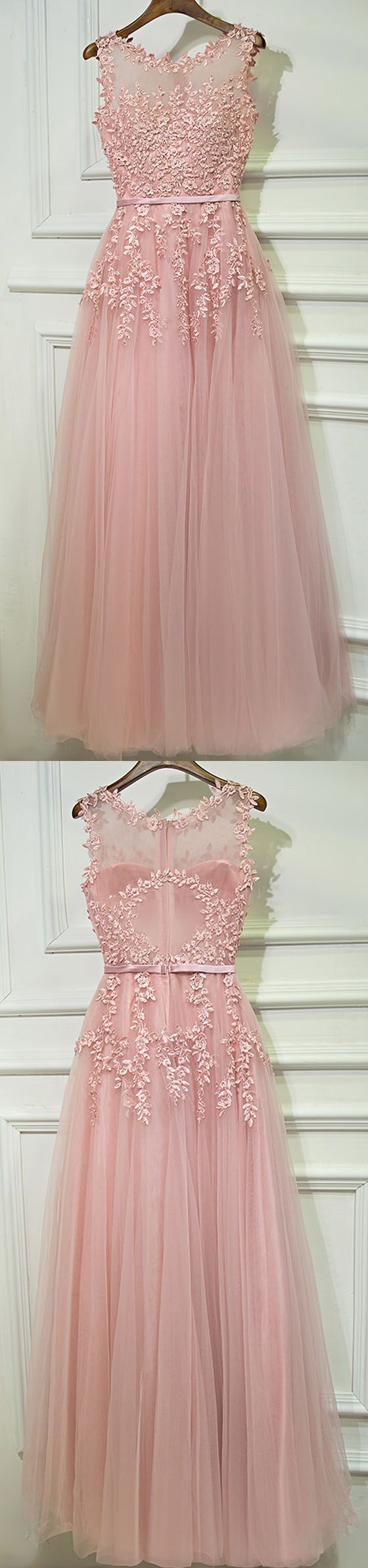 Formal Blush Pink A Line Cheap Long Prom Dresses, BGP001 #promdress #prom