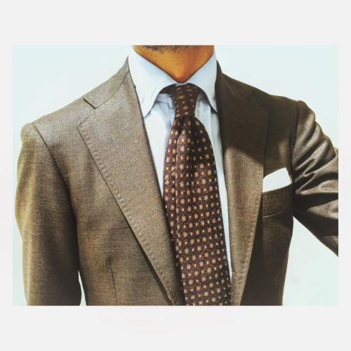 Blue And Brown Combination Suit Model 253h From Ring