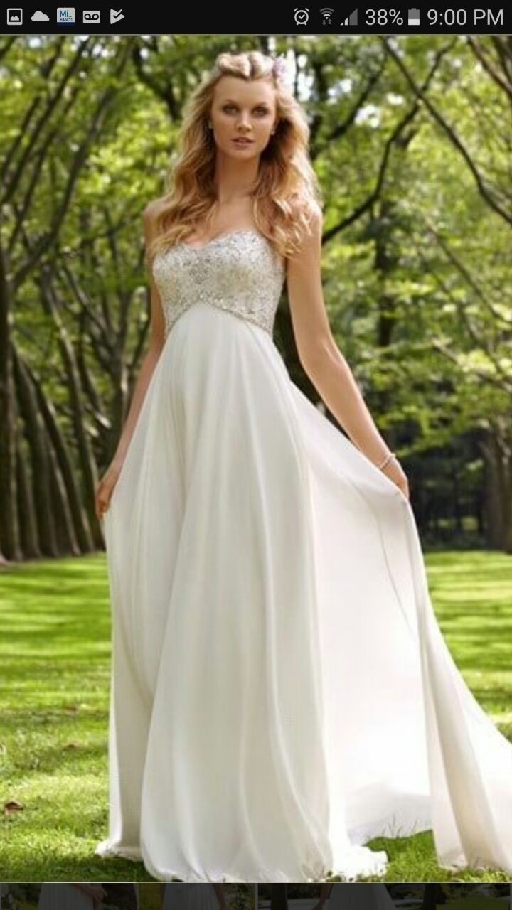 Chiffon White Ivory Wedding Dress A Line Bridal Gown Custom Size In Clothing Shoes Accessories Formal Occasion Dresses