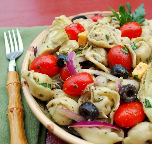 Tortellini Pasta Salad. My aunt makes this and we love it!