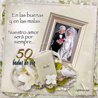 Imágenes y dedicatorias para aniversarios de bodas de oro