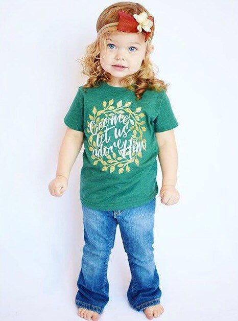 Kid's Christmas Shirt - Christian Christmas Shirt - Christmas Hymn Shirt - Jesus Christmas - Adore Him Shirt - Faith based Apparel for Kids by SweetPeonyBoutique on Etsy https://www.etsy.com/listing/471994390/kids-christmas-shirt-christian-christmas
