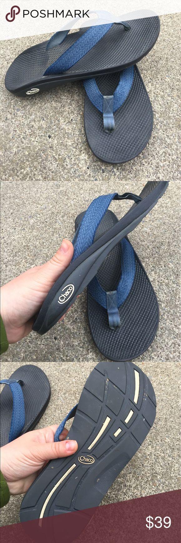 Men's Chaco Blue Flip Flop Sandals 10M Men's Chaco Blue Flip Flop Sandals 10M Chaco Shoes Sandals & Flip-Flops