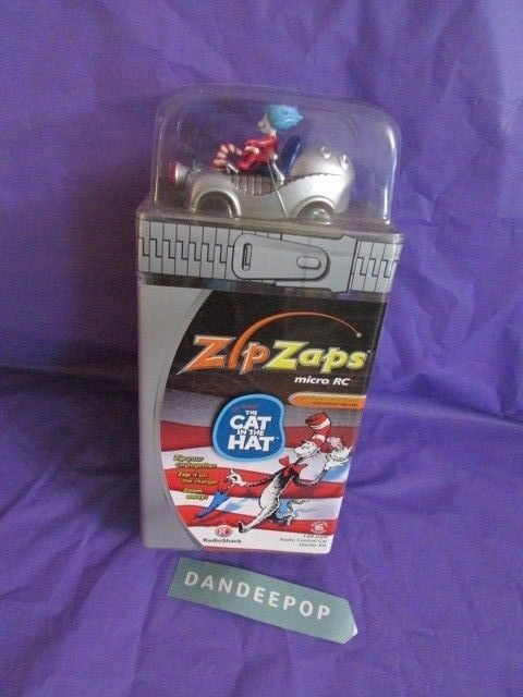 Dr Seuss' The Cat In The Hat ZipZaps Micro RC Car Vehicle Toy 600-7035 New #ZipZaps #radioshack #rc #toy #rccar #microrc #dandeepop