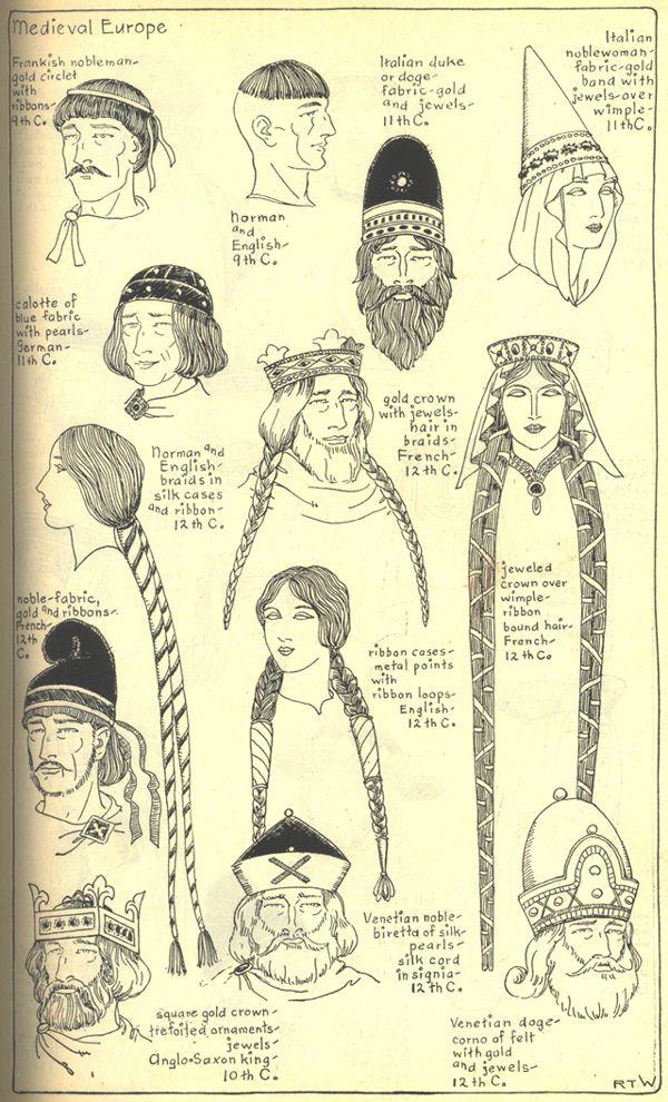 R. Turner Wilcox - Tocados y peinados de la Europa gótica