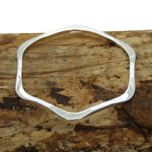 Pura Mexico Sterling Silver Hexagon Bangle - Beautiful solid shape