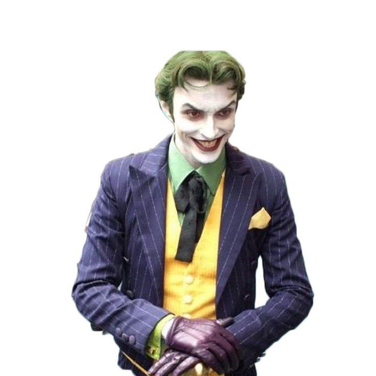 Halloween Costumes For Women Men Suicide Squad Joker Costume 5 Pieces/set Batman Joker Suit Cosplay Outfit Tuxe Fantasias Adulto