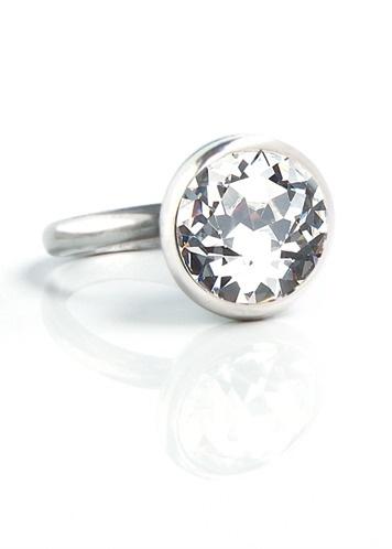 swarovski crystal ring by Miglio