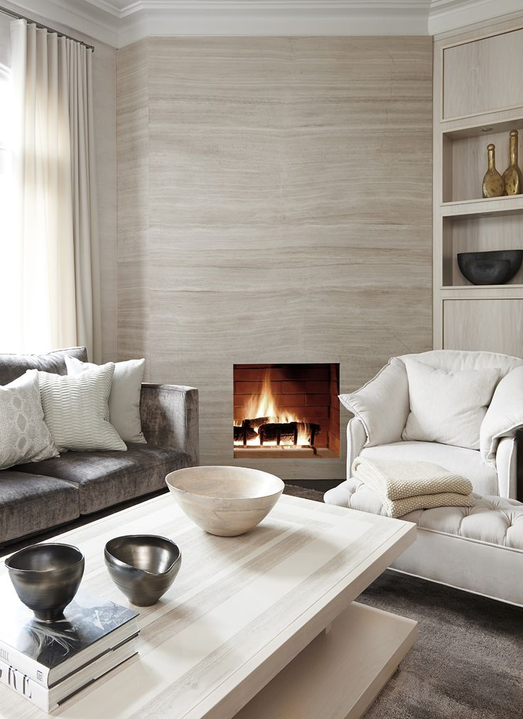 Gorgeous feature wall fireplace - Broken Down Designs, Toronto