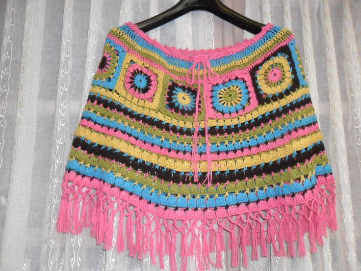 Chauffe-épaules multicolore en coton