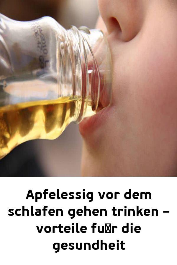 Apfelessig vor dem schlafen gehen trinken – vorteile fu¨r die gesundheit – Gesundheitsblatt