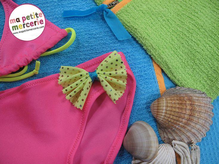 Tuto couture : réalisez un maillot de bain fluo pour femme - Découvrez de nombreux tutoriels sur le blog de Ma petite mercerie