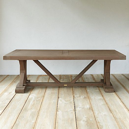 Protected Teak Trestle Dining Table, 8'