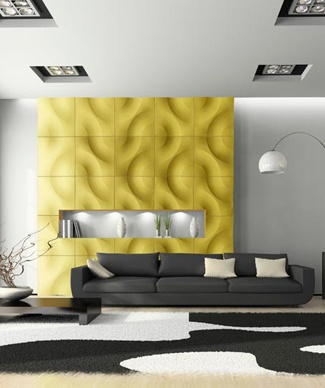 In the Groove Plaster 3D Wall Panels (748B)
