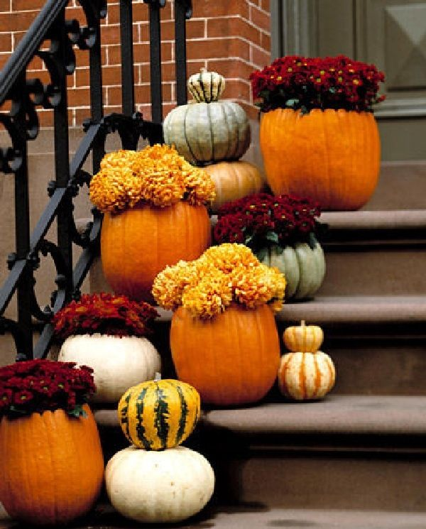Outdoor thanksgiving decorations beautiful front porch Beautiful fall front porches
