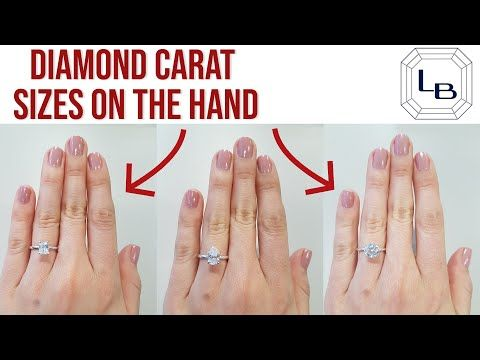 Every Diamond Shape And Carat Size Shown On The Hand Some Of The First Questions People Ask When Searching For Carats Size Diamond Carat Size Diamond Shapes