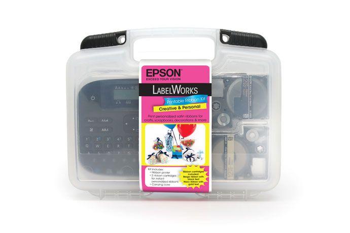 Epson Labelworks Printable Ribbon Kit Product Information Epson America Inc Custom Ribbon Birthday Card Maker Epson