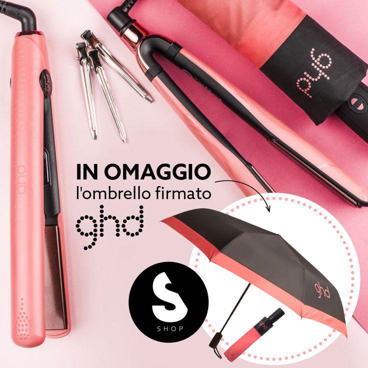 Acquista un prodotto @ghd Pink Blush e ricevi in OMAGGIO l'ombrello firmato Ghd!  #promo #gift